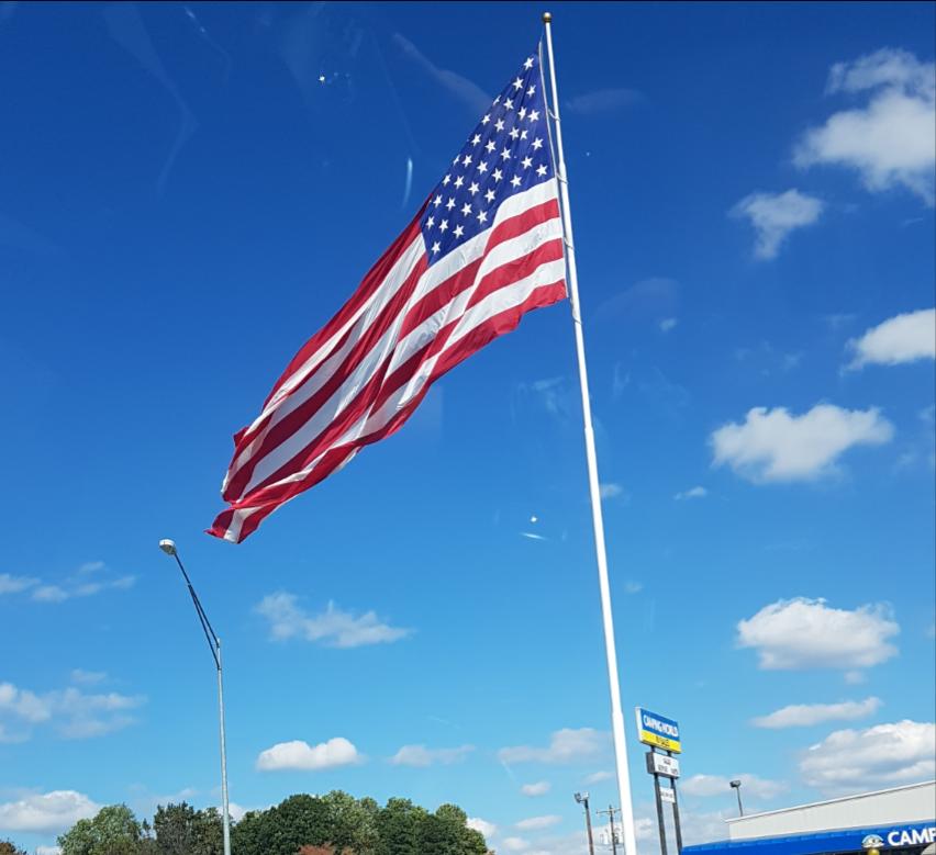 flaga usa stany zjednoczone ameryka america blue red white