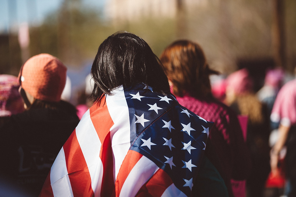 flaga usa kobieta