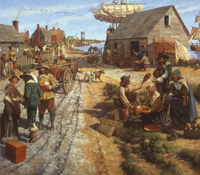 kolonia z Plymouth w USA