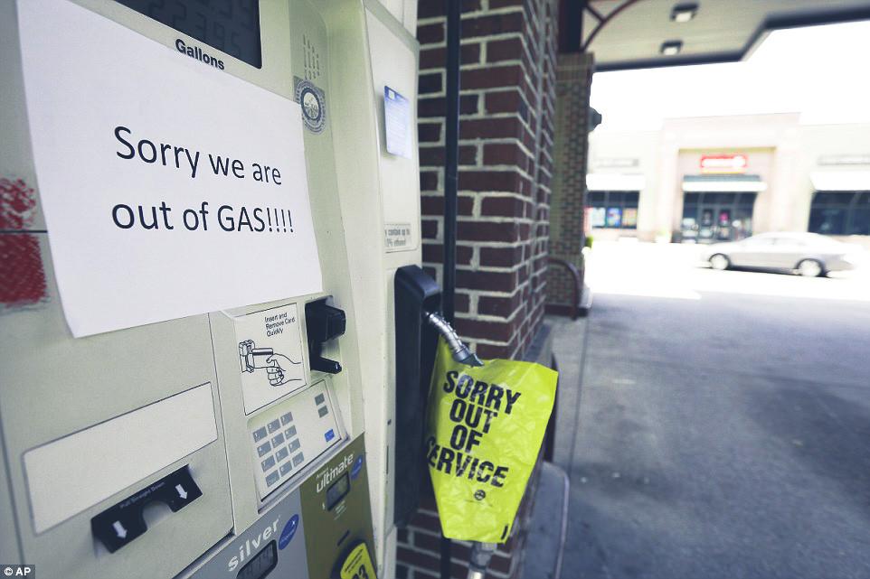 brak paliwa na stacji benzynowej, zamknięte dyspozytory