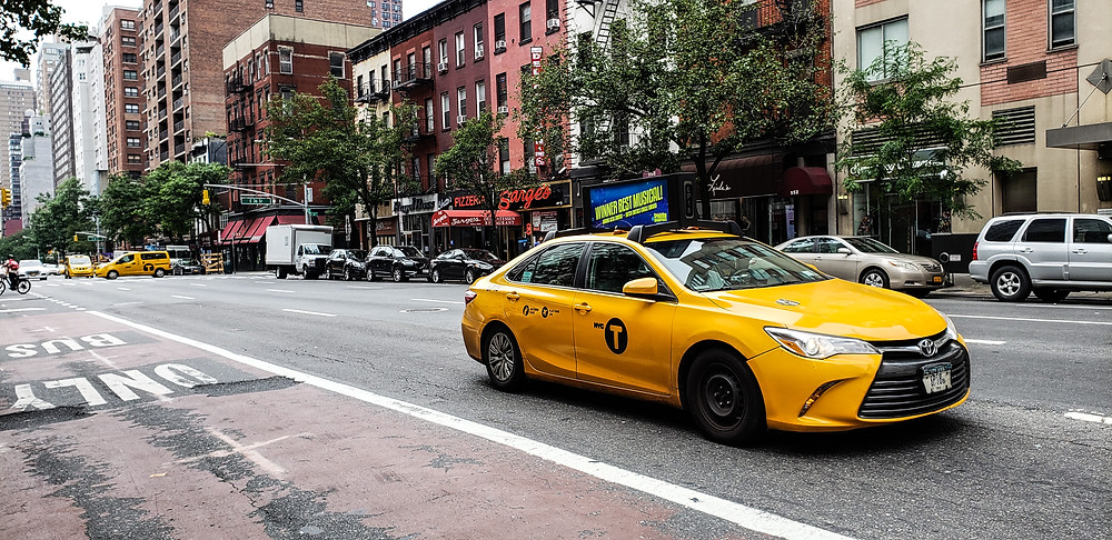yellow cab nowy jork usa manhattan ameryka nyc