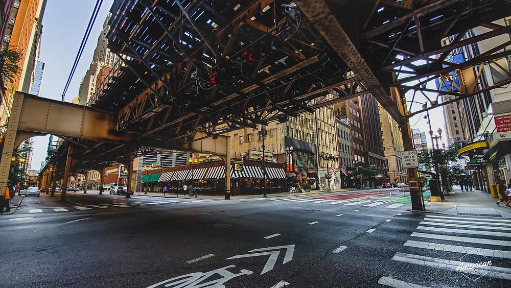 skrzyżowanie w chicago droga metro asfalt