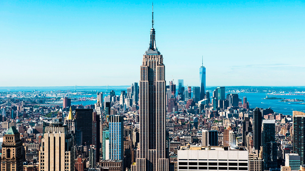 nowy jork new york nyc manhattan empire state building big apple panorama miasta