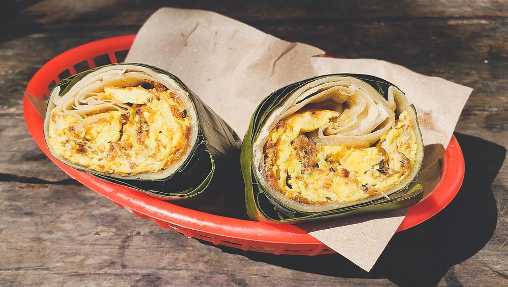 jajecznica w formie burrito w Meksyku