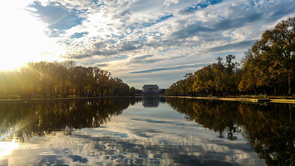 lincoln memorial abraham lincoln waszyngton usa ameryka stany zjednoczone
