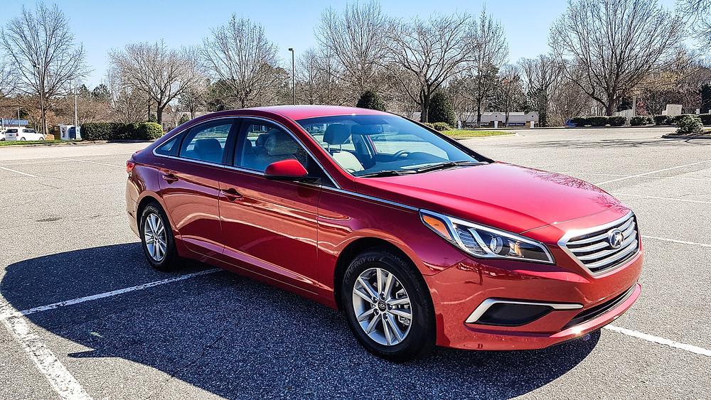 Hyundai Sonata 2017 Scarlet Red car sedan limuzyna usa ameryka