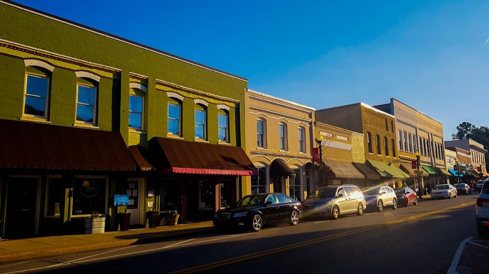 Apex downtown NC North Carolina USA Ameryka Stany Zjednoczone miasto