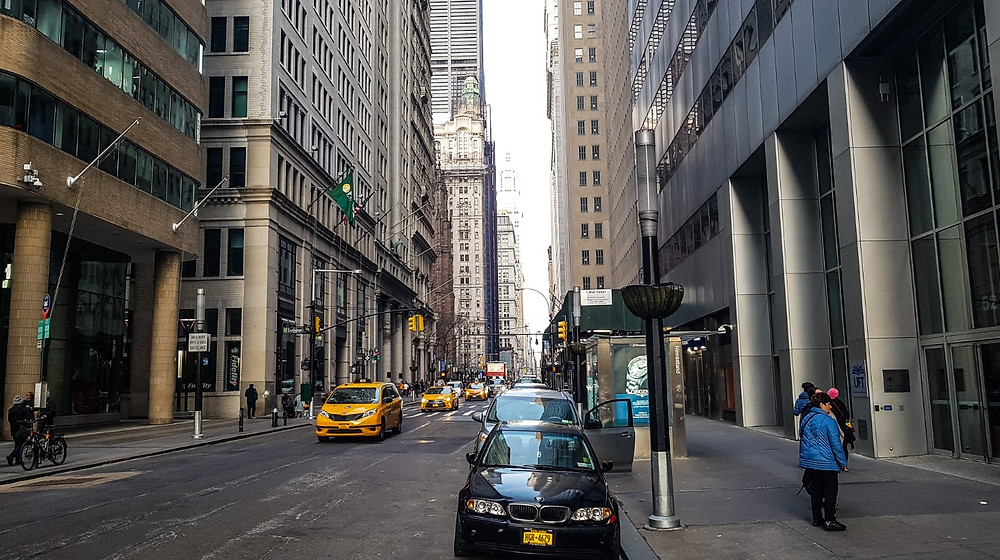 new york manhattan biurowce usa nowy jork ameryka ulica