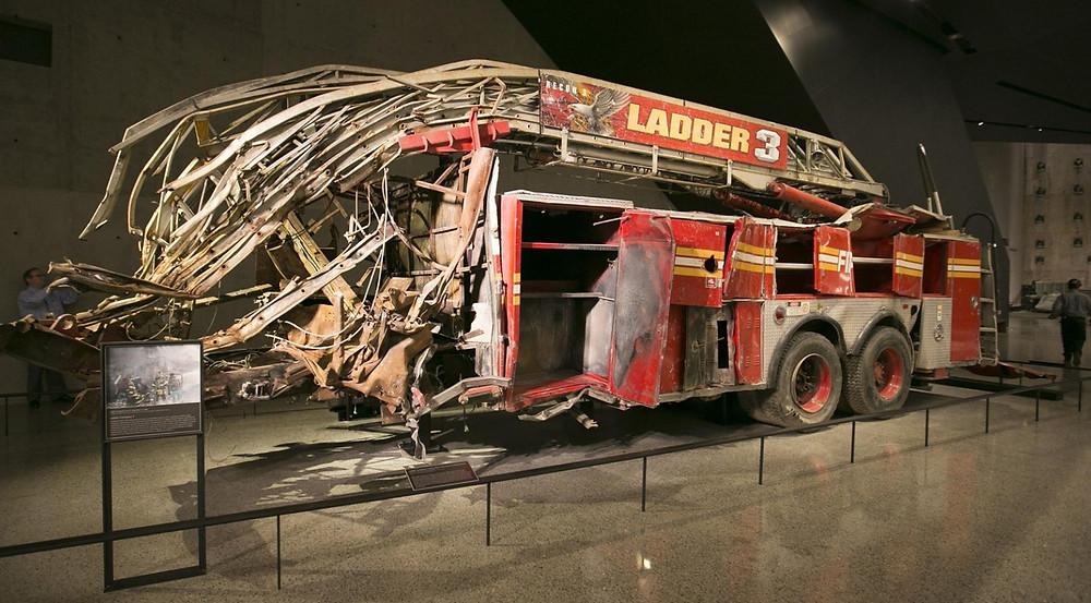 wrak wozu strażackiego atak terrorystyczny world trade center