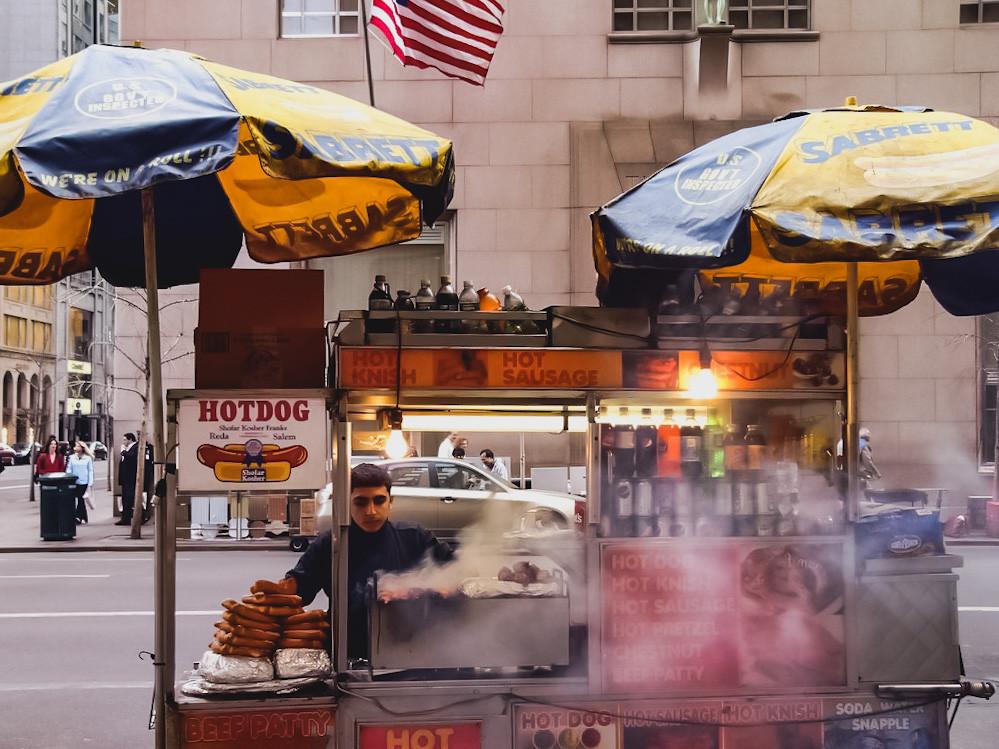 street food uliczne jedzenie nowy jork usa ameryka new york manhattan