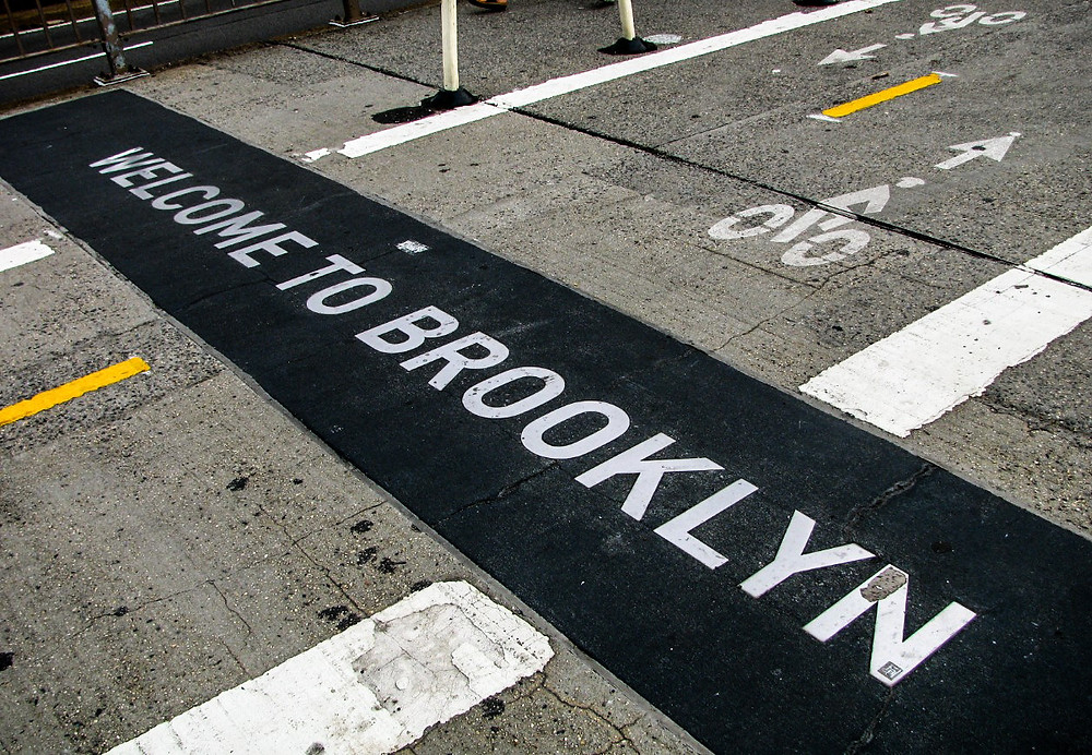 welcome to brooklyn new york nowy jork usa ameryka street photo bridge