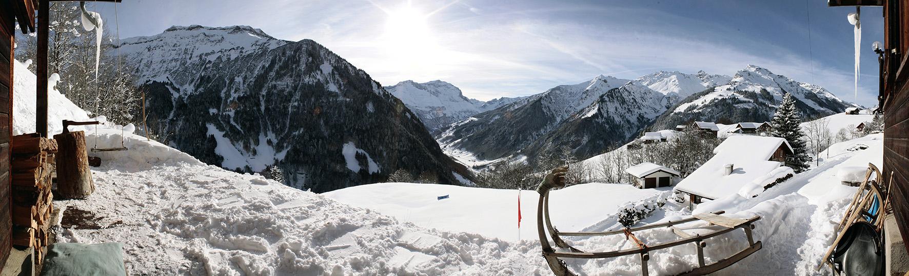 Weissenberge Winter Panorama