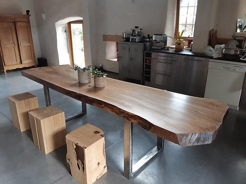 Table Noyer et métal