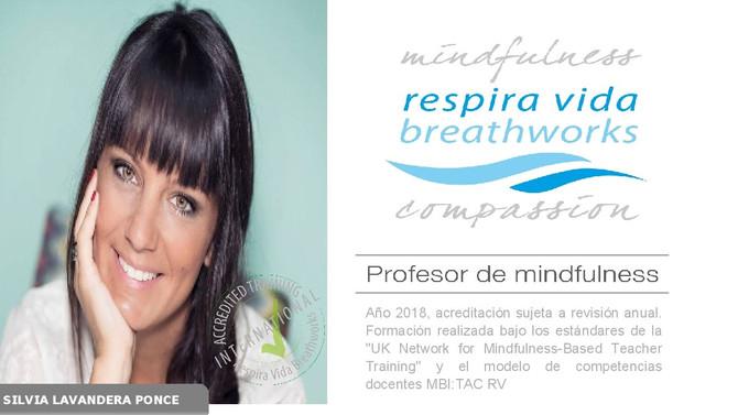 Nueva Profesora - New Mindfulness Teacher Respira Vida Breathworks: Silvia Lavandera Ponce