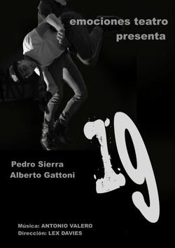"""Cartel  de la obra """"19"""""""