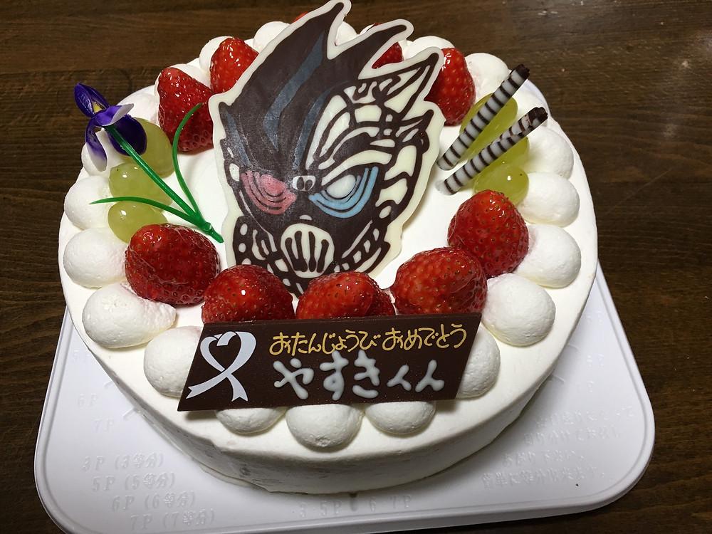 仮面ライダーゲンムのケーキ