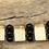 Thumbnail: Fossil Walrus Ivory, Black Agate & Sterling Silver Bracelet
