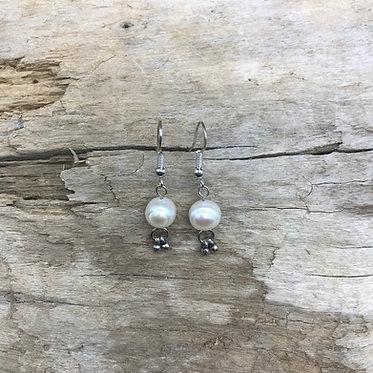 Fresh Water Pearl & Sterling Silver Earrings