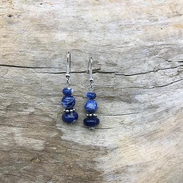 Sodalite & Sterling Silver Earrings