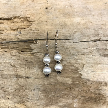 Fresh Water Pearl & Sterling Silver Earrings