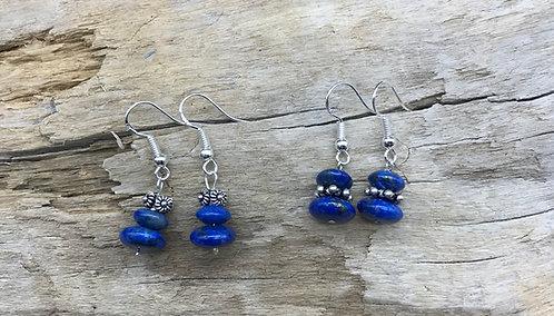 Lapis & Sterling Silver Earrings