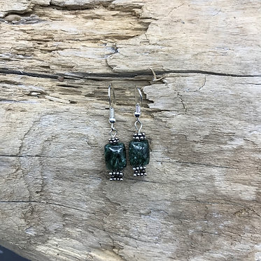 Seraphinite & Sterling Silver Earrings