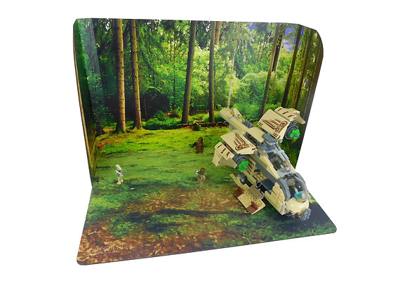 Brickdrops Forest/Lake Backdrop w/ Play Mats