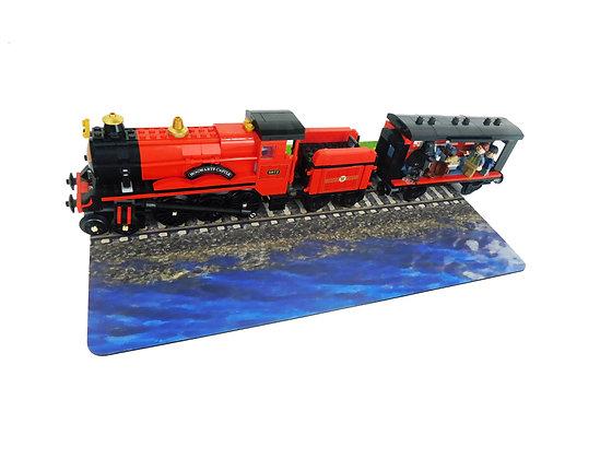 Brickdrops Train Track with Lake Play Mat