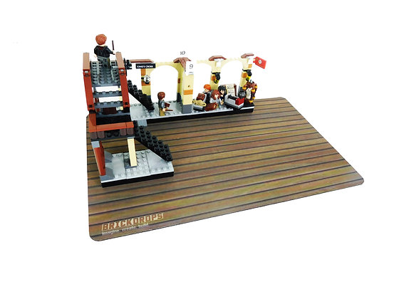 Brickdrops Dark Wood Floor Play Mat