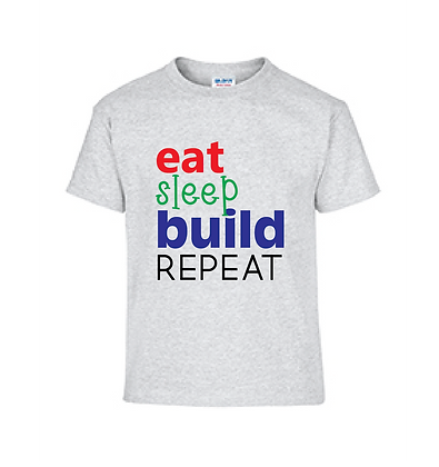 Eat Sleep Build Repeat T-Shirt