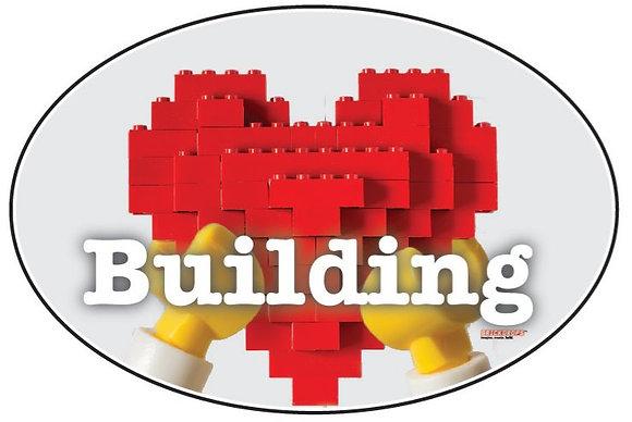 I ♥ Building Oval Bumper Sticker