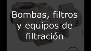 bombas, filtros y equipos de filtracion.