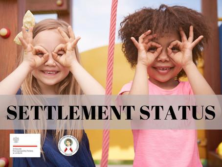 settlement status dzieci
