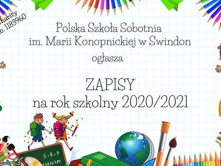 Nabór na rok szkolny 2020/2021