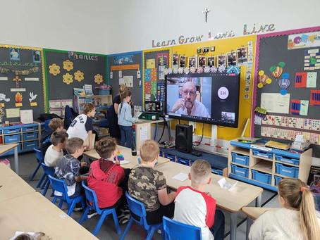 Artur Barciś gościem online w naszej szkole