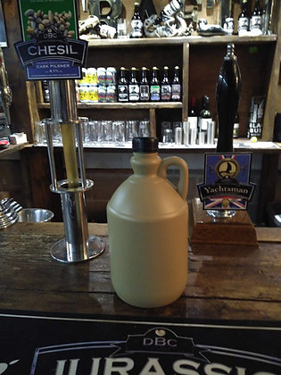 Growler containing 4 pints of real ale (local deliveries and pickups only)