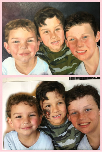 Before and after of Romney, Leo and Alle