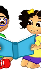 Ace and Grace reading a book illustration