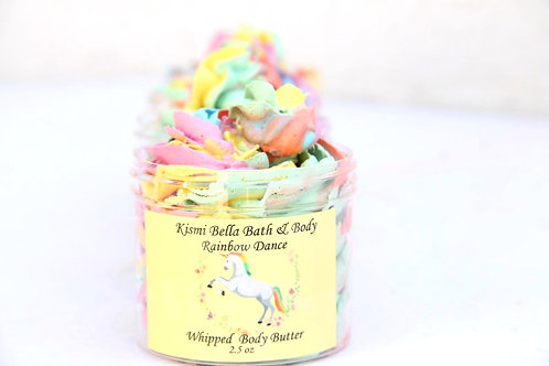 Whipped Body Body, Unicorn Body Butter, Colored Body Butter, Rainbow Dance Body