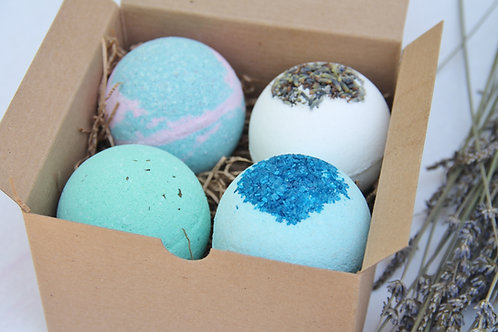 Bath Bomb Gift Set of 4, Valentines Day Gifts, Christmas Gifts, Birthday gifts
