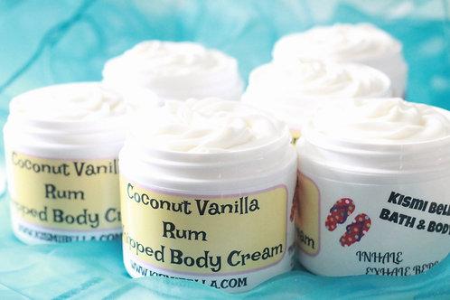 Hand lotion, Hand cream, Whipped Body Cream, Coconut Vanilla Rum