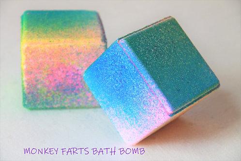 Monkey Farts Cube Bath Bomb