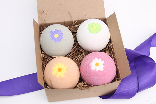 Spa Gift Set, Bridesmaids Gifts, Party Favors, Birthday Gifts, Flower Bath Bomb