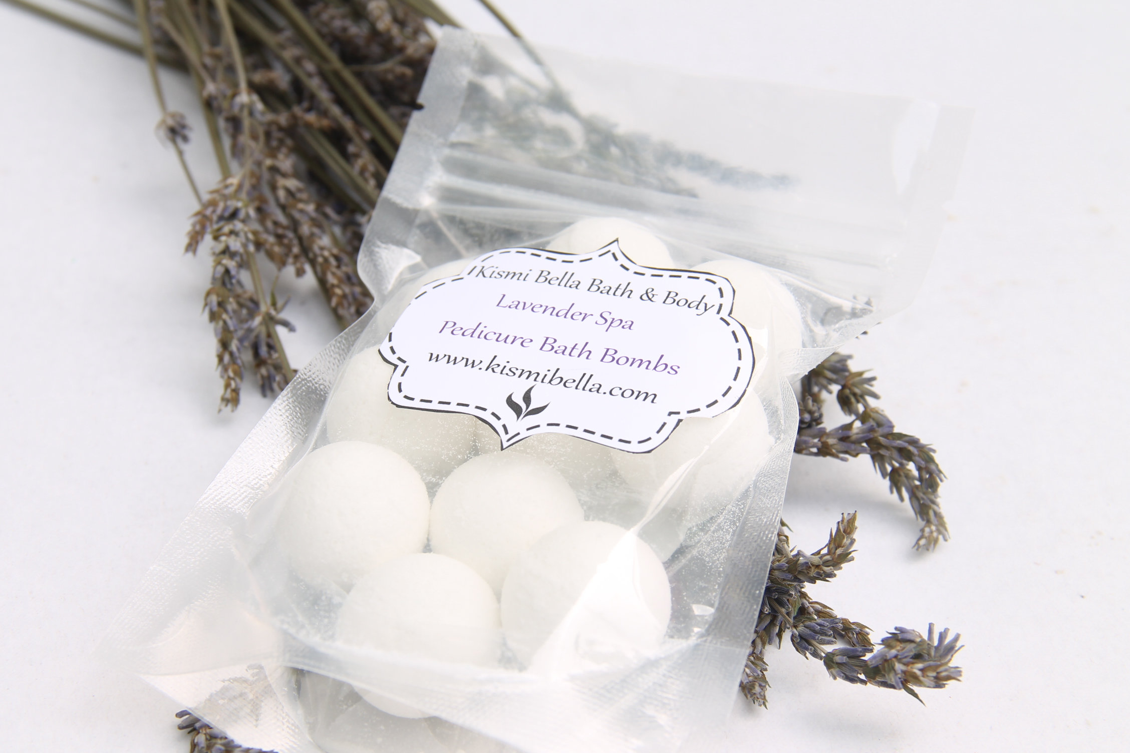 Pedicure Bath Bombs Mini Bath Bombs Spa Gift Set Lavender Spa Kismibellaskincare