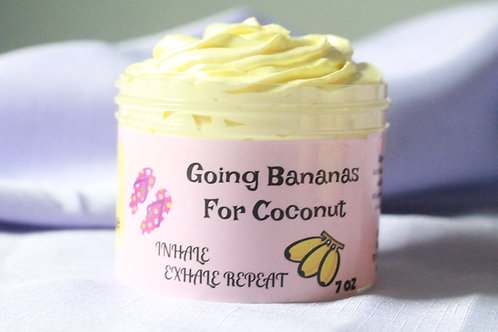 Banana Coconut Whipped Soap Sugar Scrub RRP $15.00 WSP $7.50