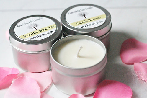 Vanilla Blossom Soy Candle Soy Wax Tin Container For The Home Candles Travel Can