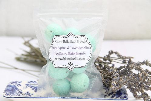 Pedicure Bath Bombs, Mini Bath Bombs, Spa Gift Set, Eucalyptus and Lavender Mint