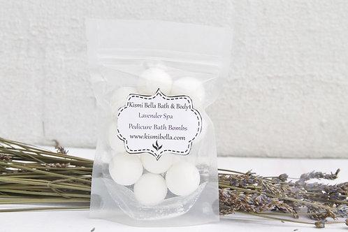 Pedicure Bath Bombs, Mini Bath Bombs, Spa Gift Set, Lavender Spa