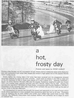 A hot frosty day