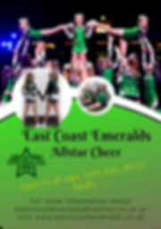 Copy of Cheerleader try-outs flyer templ